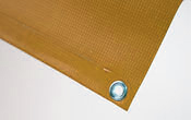 Hem & Grommets Includes 1 inch hem with #2 brass grommet every 2 feet on side(s) requested for hanging or mounting to wall.