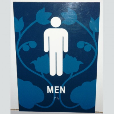 ADA custom men's restroom sign with braille