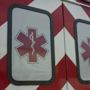 EMS Vehicle reflective and perforated window vinyl