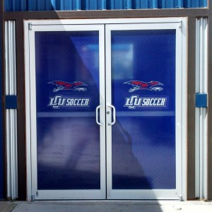 LCU perforated window vinyl