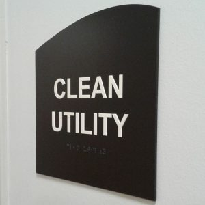Clean Utility Wall Sign